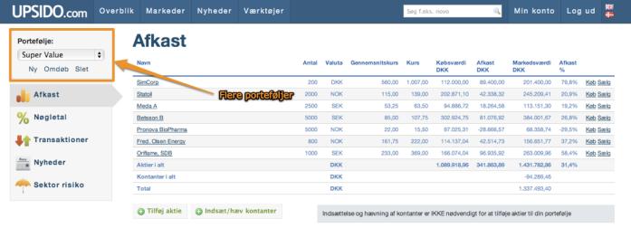 Portefølje_ Super Value | UPSIDO